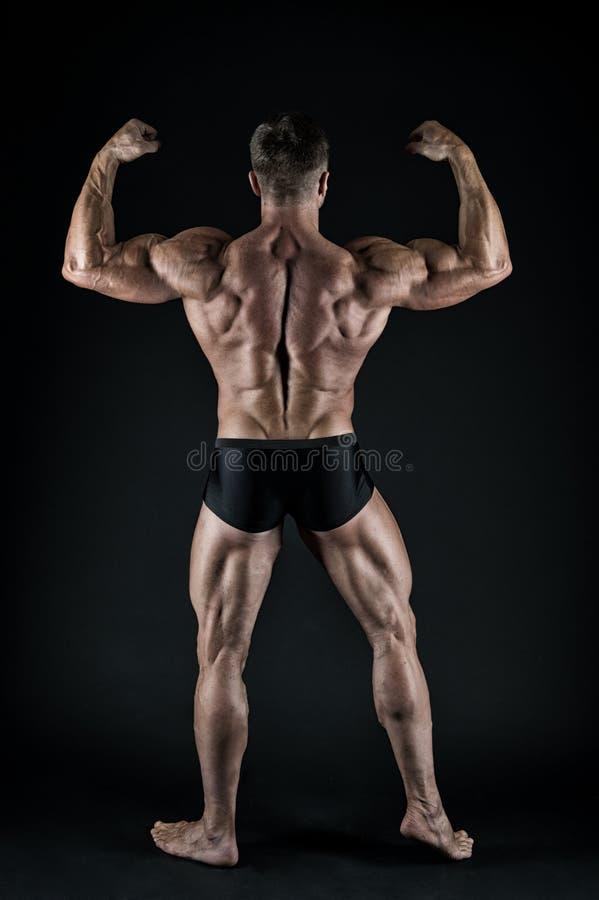 Sano e forte Bello macho con il torso muscolare Mascolinit? e sport Migliori Atleta muscolare dell'uomo fotografie stock libere da diritti