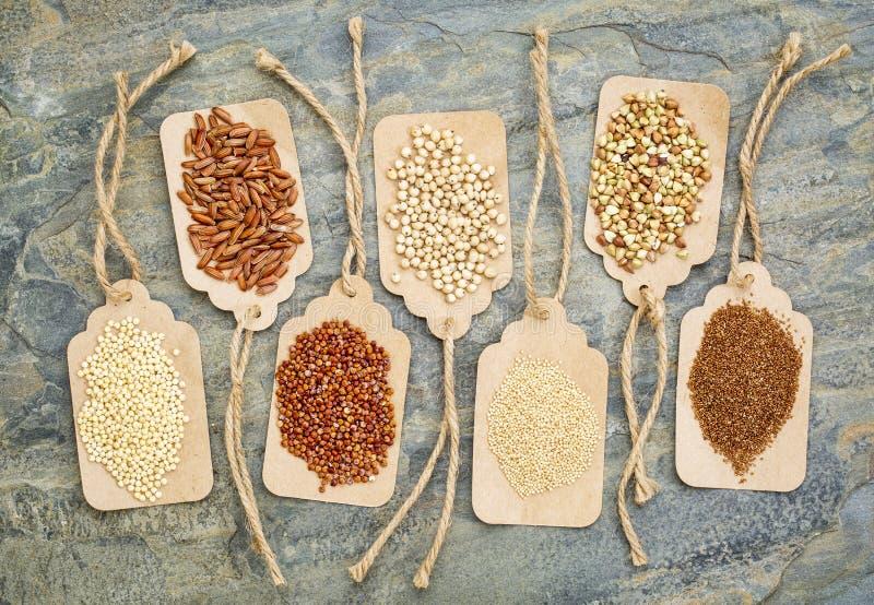 Sano, el gluten libera granos imagen de archivo libre de regalías