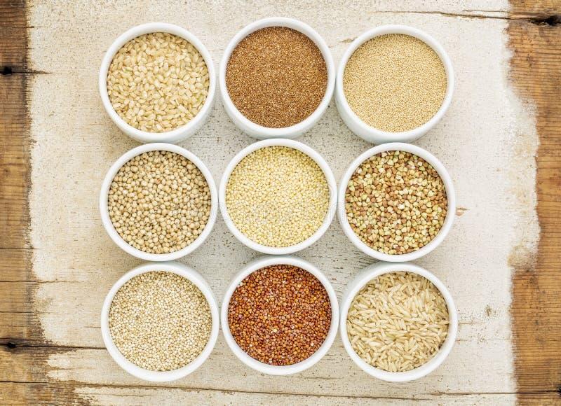 Sano, extracto libre de los granos del gluten fotos de archivo