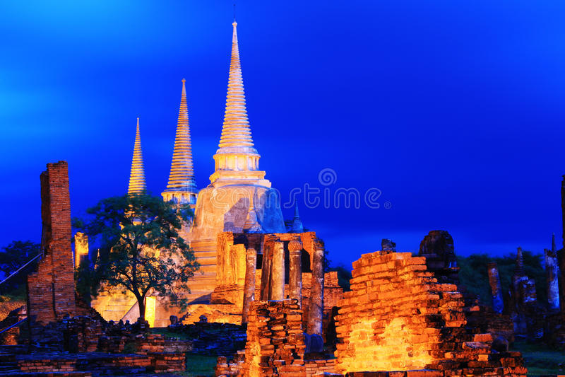Sanphet Ayutthaya de sri de phra de Wat images stock