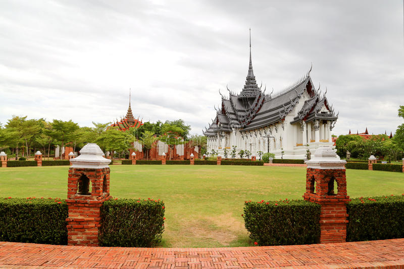 Sanphet Prasat宫殿,古城,曼谷,泰国 免版税图库摄影