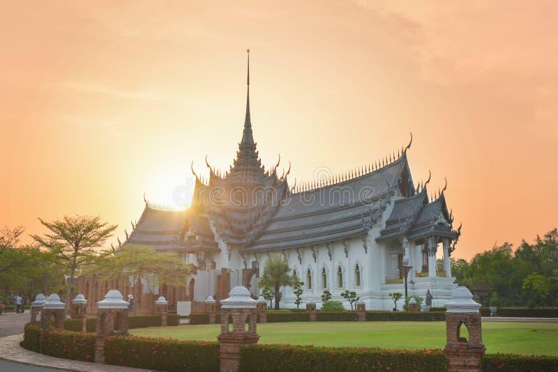 Sanphet Prasat宫殿,古城,曼谷,泰国 免版税库存照片