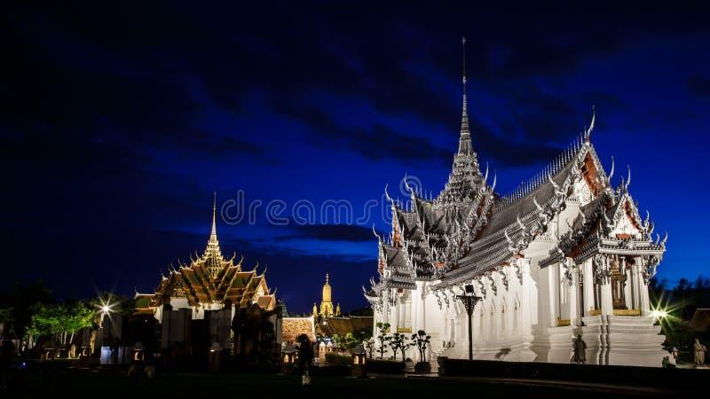 Sanphet Prasat宫殿,古城,曼谷,泰国 库存照片