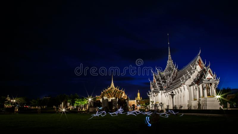 Sanphet Prasat Palace, Ancient City, Bangkok, Thailand stock image