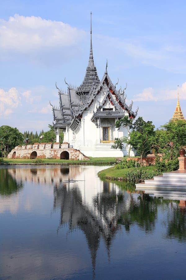 Sanphet Prasat slott, forntida stad, Bangkok som är thailändsk royaltyfri fotografi