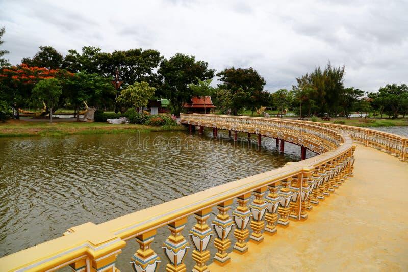 Sanphet Prasat slott, forntida stad, (den forntida staden, Muang Boran) arkivfoto