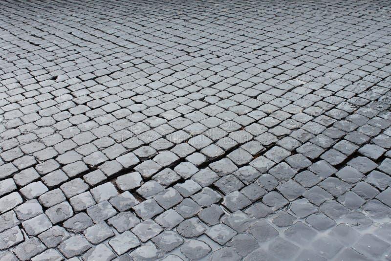 Sanpietrini dedans par l'intermédiaire d'Appia Antica photo stock
