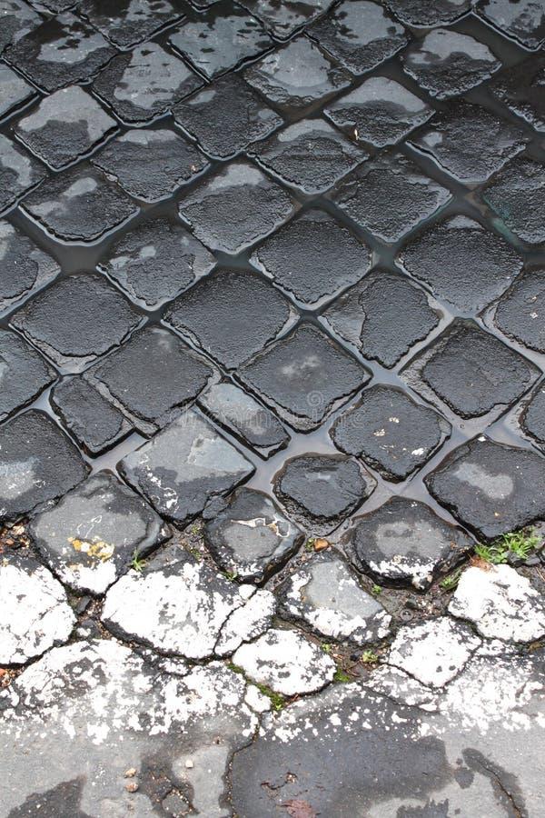 Sanpietrini dedans par l'intermédiaire d'Appia Antica image stock