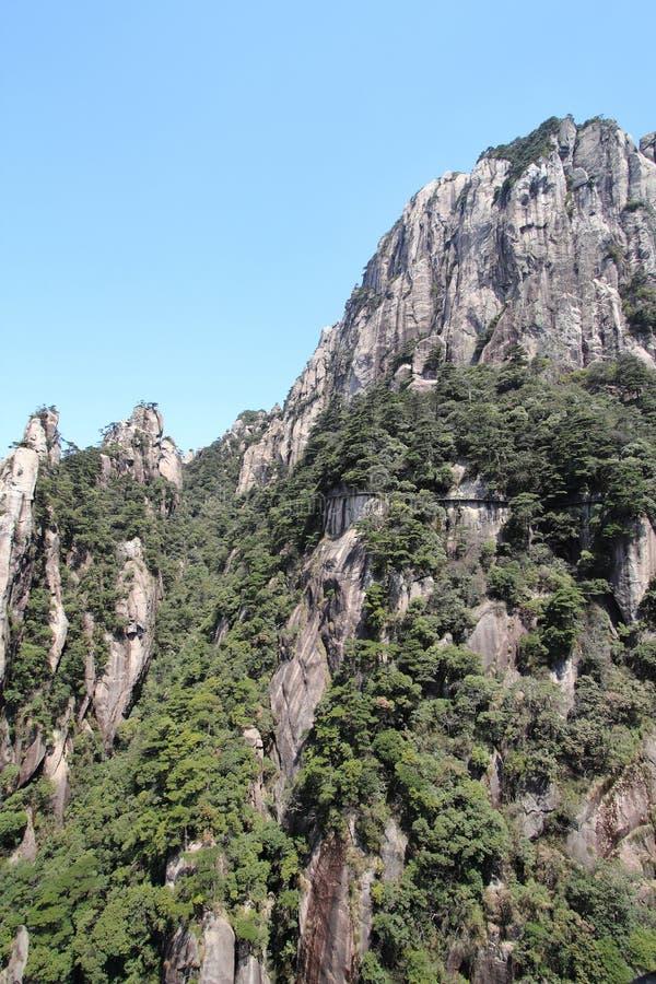 Sanqing-Berg stockfotografie