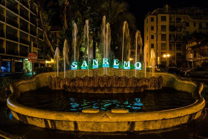 Sanremo-Brunnen lizenzfreies stockbild
