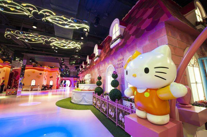 Sanrio Hello Kitty Town image libre de droits