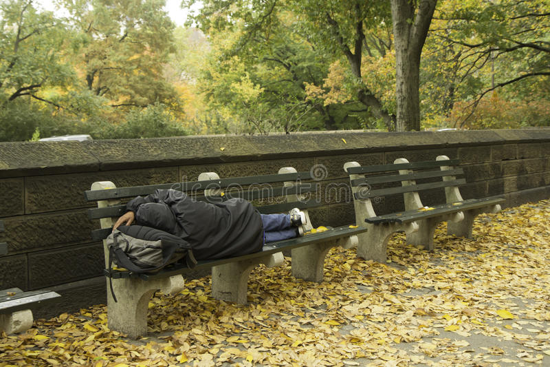 Sans-abri à New York City photographie stock