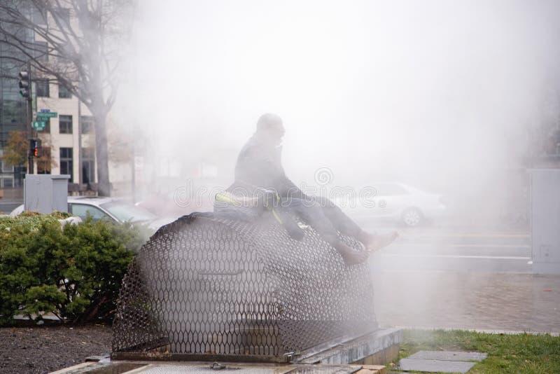 Sans-abri en vapeur photo libre de droits