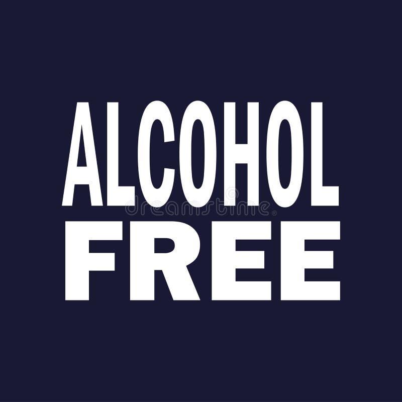 Sans alcool Vecteur sur le fond bleu-foncé illustration libre de droits
