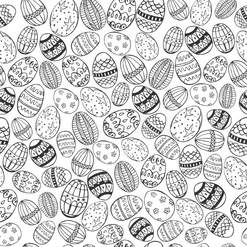 Sans couture blanc et noir de Pâques illustration stock