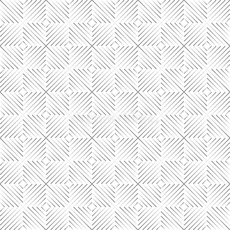 Sans couture des places linéaires d'isolement de triangle sur un fond blanc illustration libre de droits