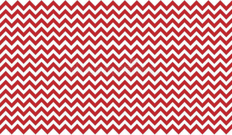 Sans couture entrelaçant le zigzag rouge et blanc les rayures donnent au fond une consistance rugueuse illustration de vecteur