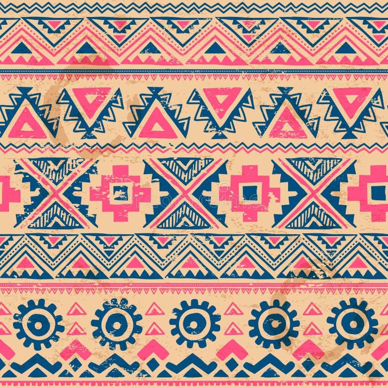 Sans couture ethnique de vintage tribal illustration de vecteur