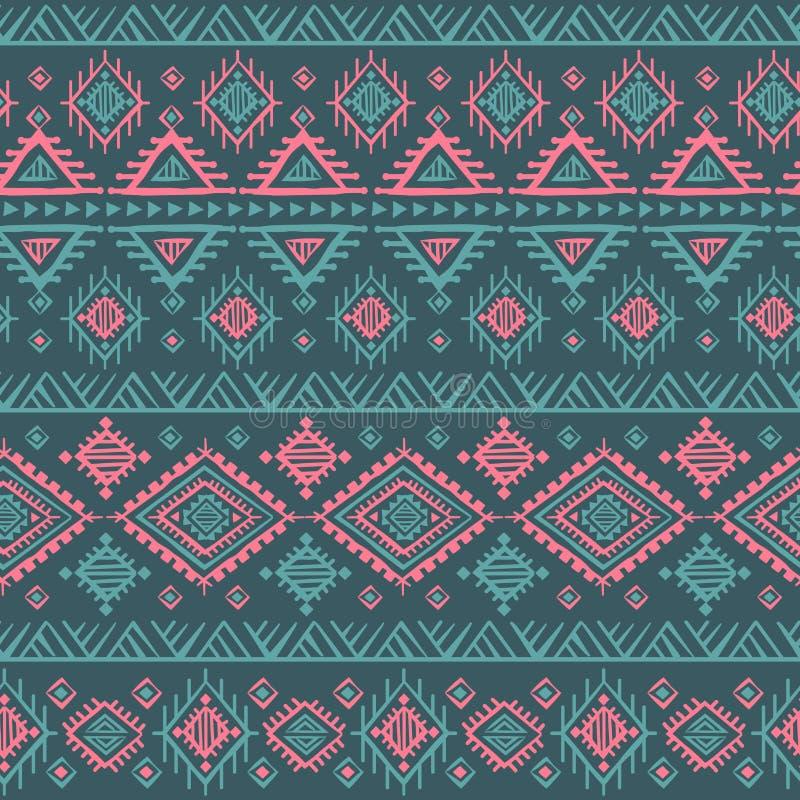 Sans couture ethnique de vintage tribal illustration libre de droits