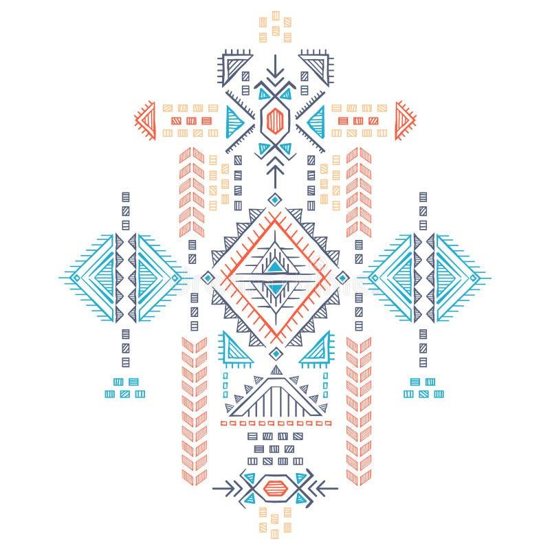 Sans couture ethnique de vintage tribal illustration stock