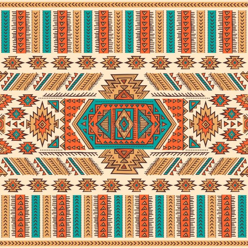 Sans couture ethnique mexicain tribal illustration de vecteur