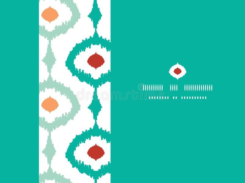 Sans couture horizontal de cadre à chaînes coloré d'ikat illustration stock