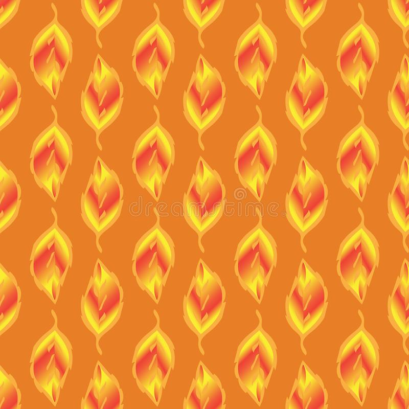 Sans couture-modèle-de-or-feuilles illustration de vecteur