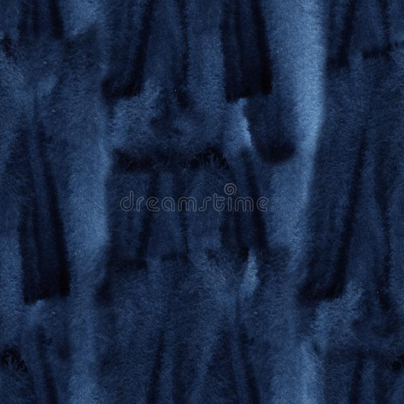 Sans couture teignez en nouant le modèle de couleur d'indigo Tissus de peinture de main - batik nodulaire Teinture de Shibori image libre de droits