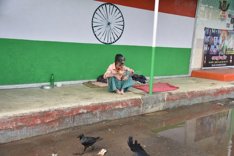 Sans domicile fixe en Inde photos libres de droits