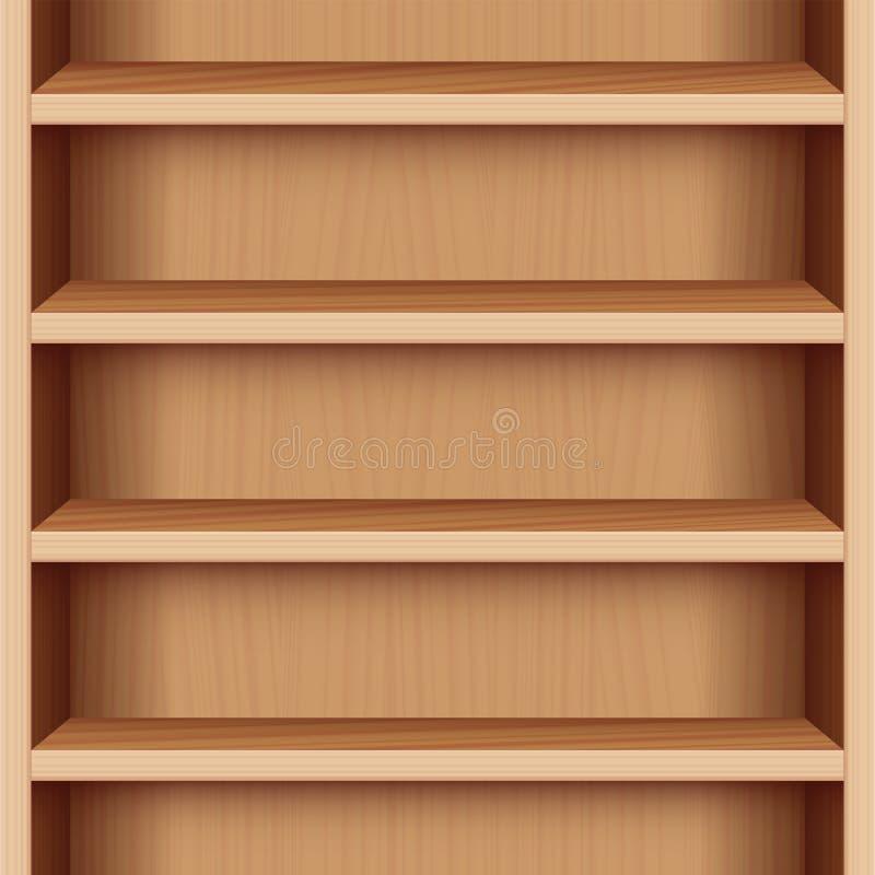 Sans fin sans couture en bois de caisse de livre illustration libre de droits