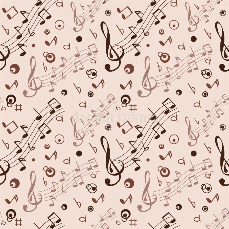 Sans joint avec quelques notes musicales illustration libre de droits