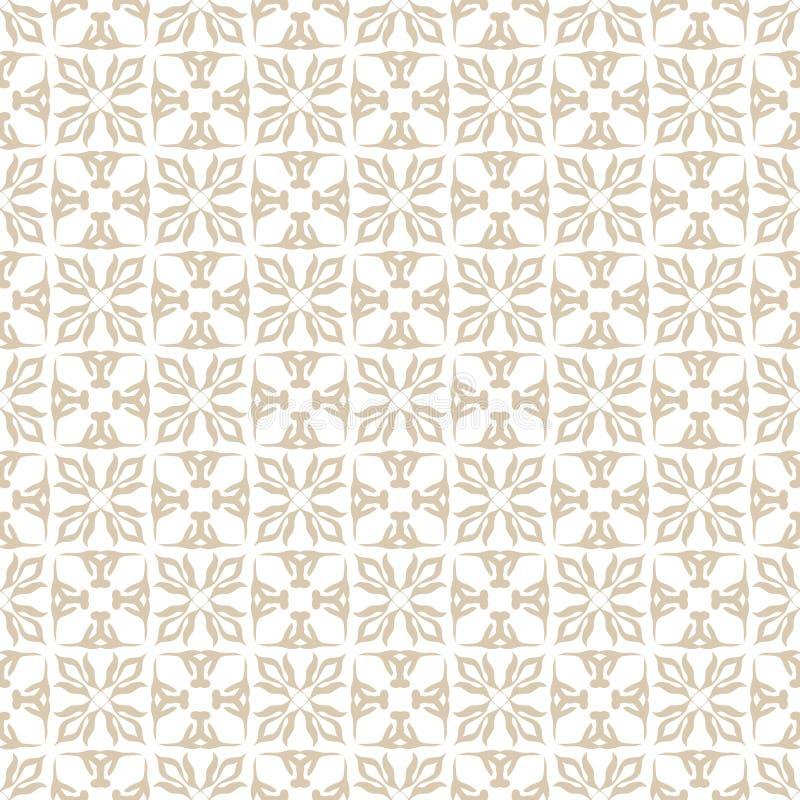 Sans joint beige floral illustration libre de droits
