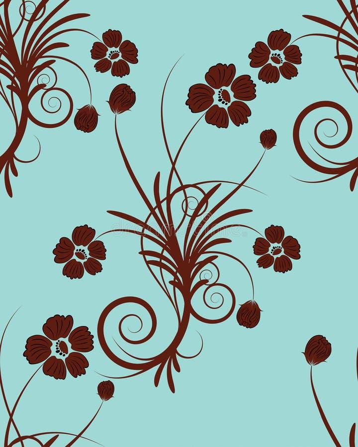 sans joint floral de fond illustration de vecteur