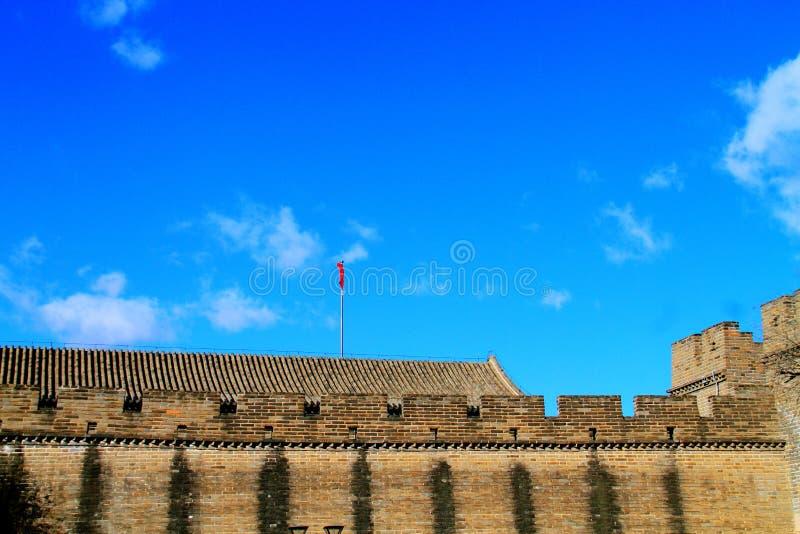 sans nuages le mutianyu de Grande Muraille photo stock