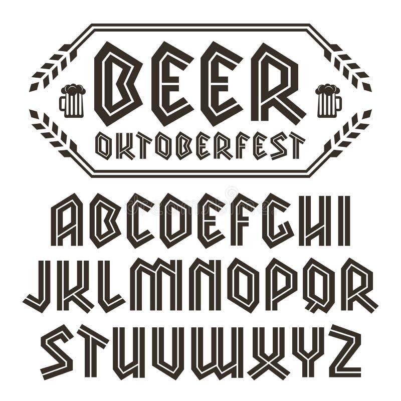 Sans serif decorative font vector illustration