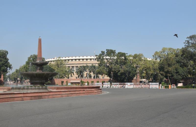 Sansad Bhavan New Delhi stock afbeeldingen