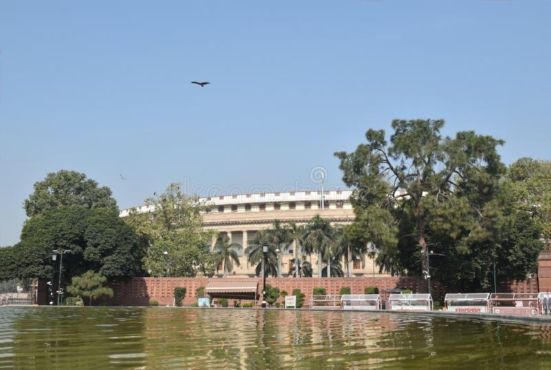Sansad Bhavan Nuova Delhi fotografia stock libera da diritti