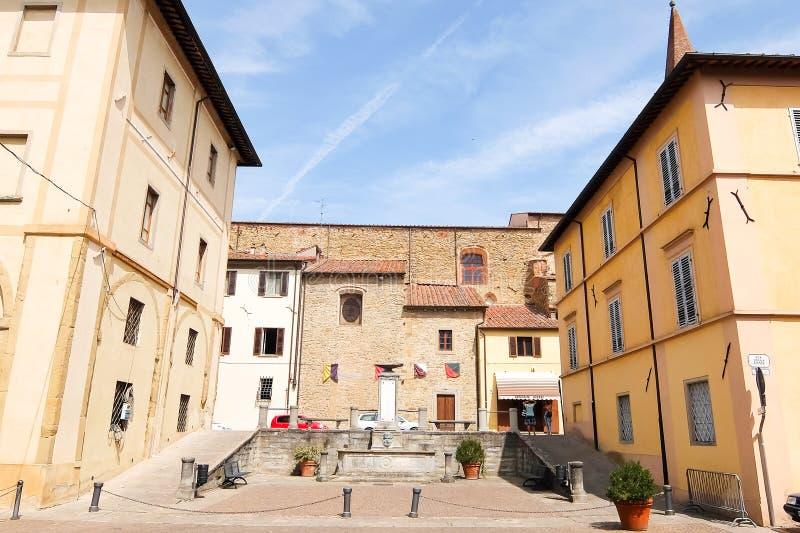 SANSEPOLCRO, ITALI? Historisch centrum van Sansepolcro stock foto's