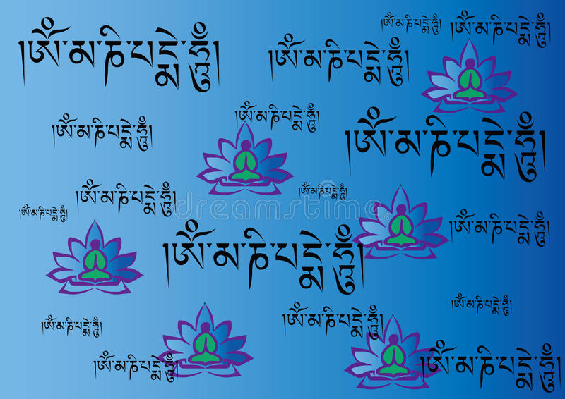 sanskrit ilustración del vector