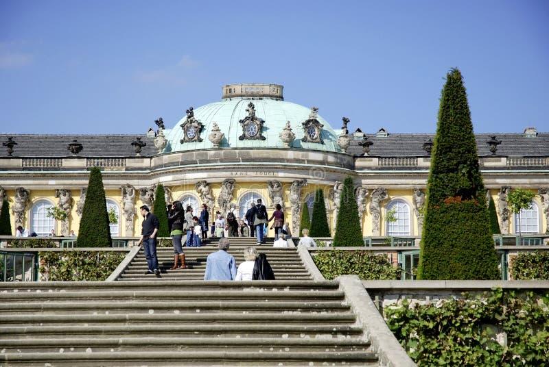 Sanssouci城堡在波茨坦 库存照片