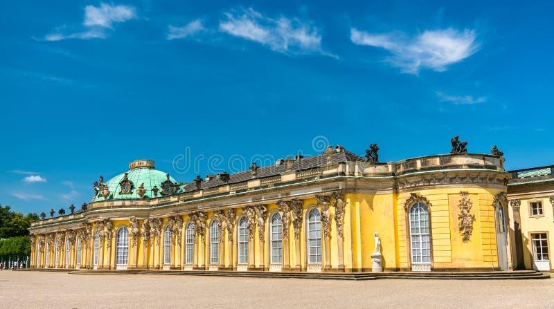 Sanssouci, o palácio de verão de Frederick o grande, rei de Prússia, em Potsdam, Alemanha imagem de stock