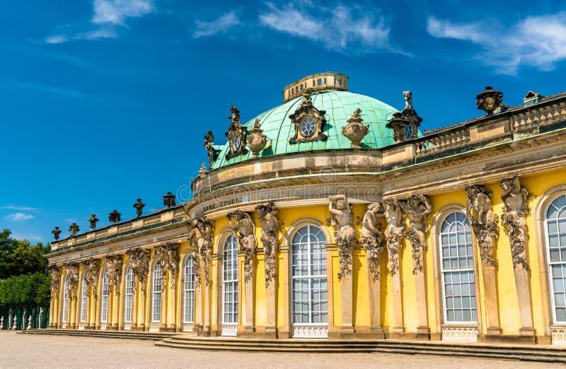 Sanssouci, o palácio de verão de Frederick o grande, rei de Prússia, em Potsdam, Alemanha fotos de stock royalty free
