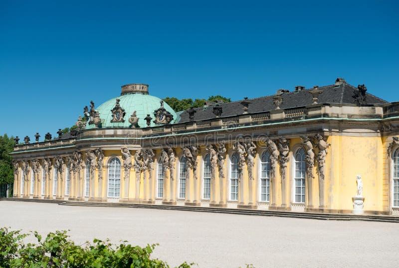 Sanssouci pałac i tarasowaty winnica zdjęcie stock
