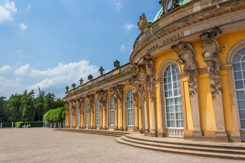 Sanssouci pałac w Potsdam zdjęcie stock