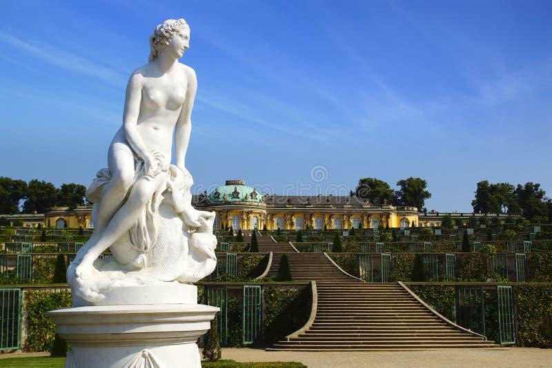 Sanssouci pałac w Potsdam, Niemcy. obraz stock