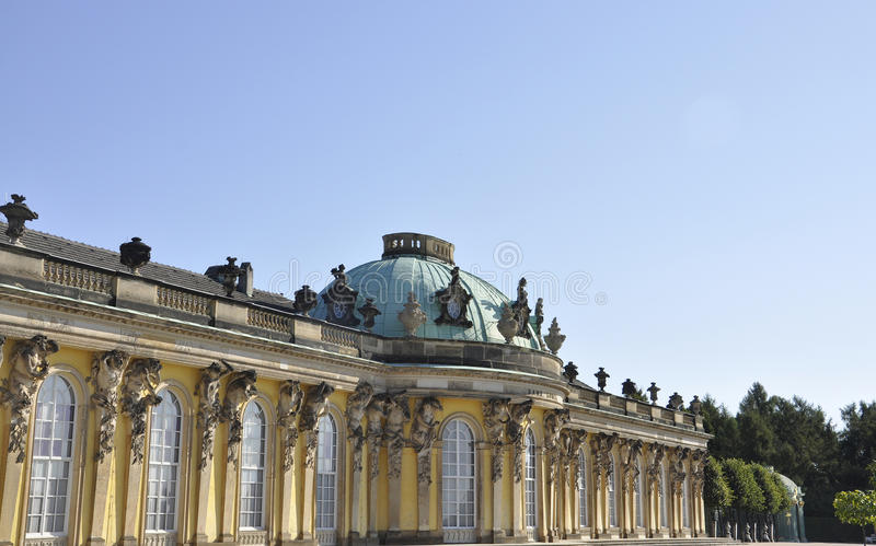 Sanssouci pałac w Potsdam, Niemcy obraz stock