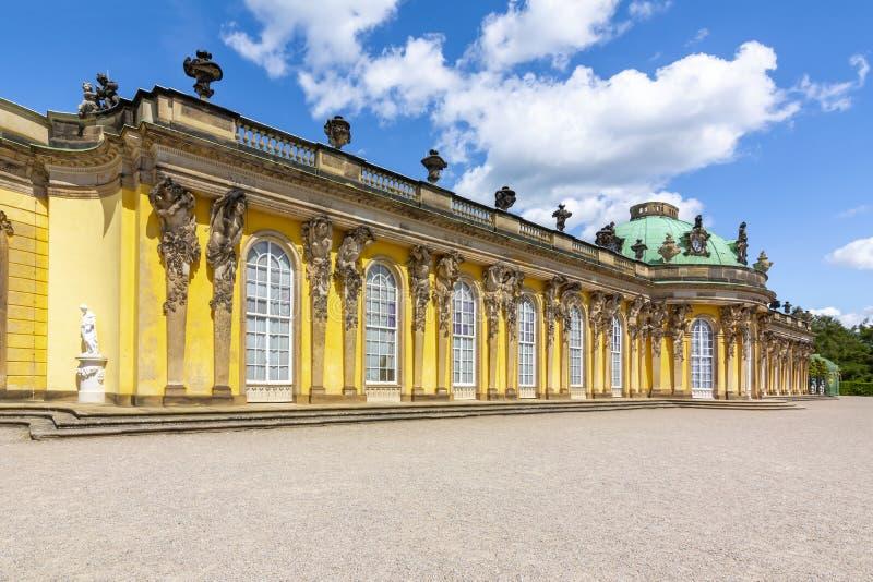 Sanssouci palace in Potsdam, Germany royalty free stock image