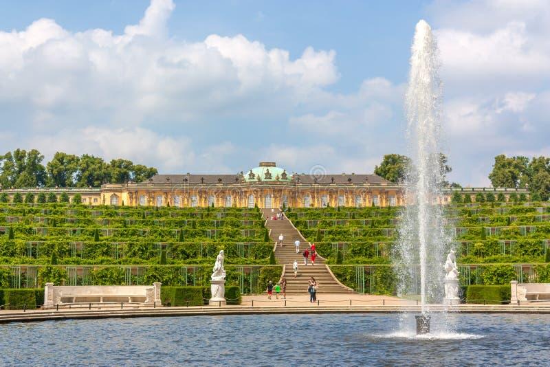 Sanssouci in Potsdam royalty-vrije stock fotografie