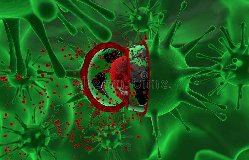 Santé, épidémie, virus, ebola illustration stock