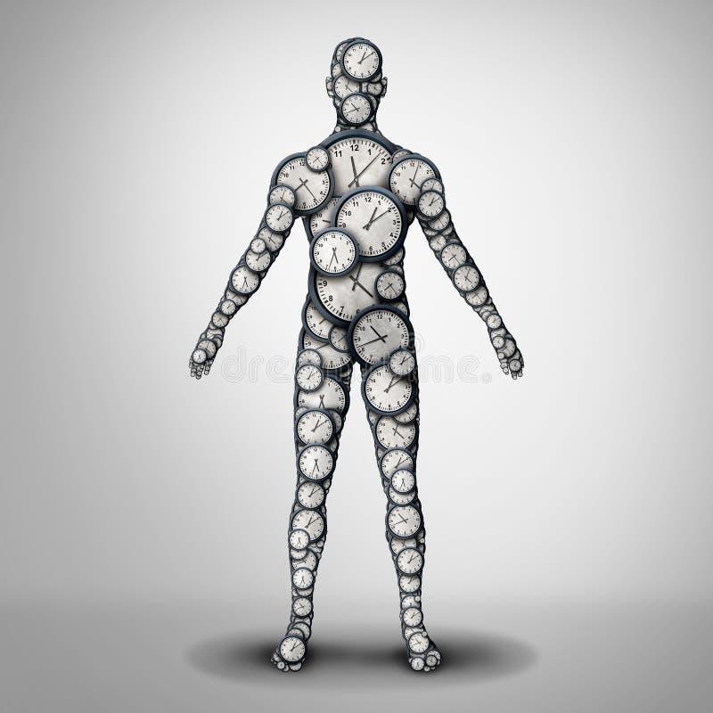 Santé d'horloge de corps illustration stock